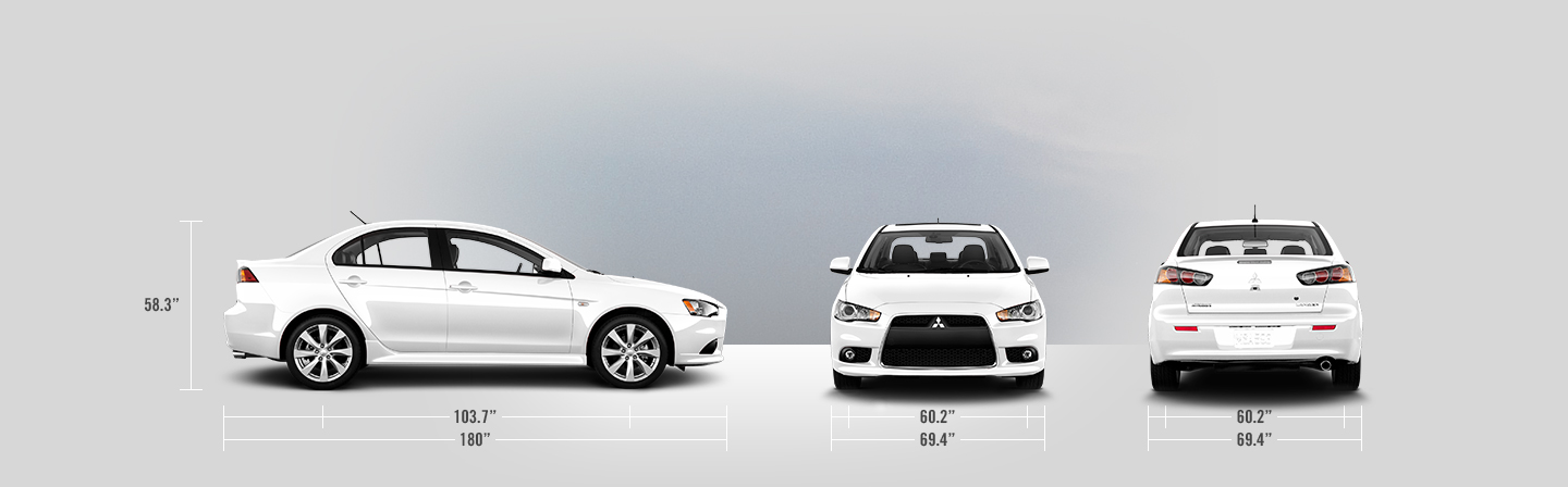 2014 Mitsubishi Lancer measurements