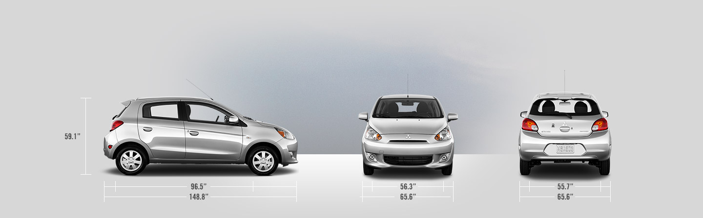 2014 Mitsubishi Mirage measurements