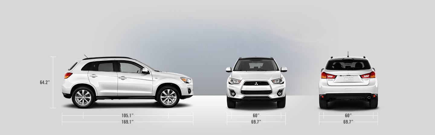 2014 Mitsubishi Outlander Sport measurements