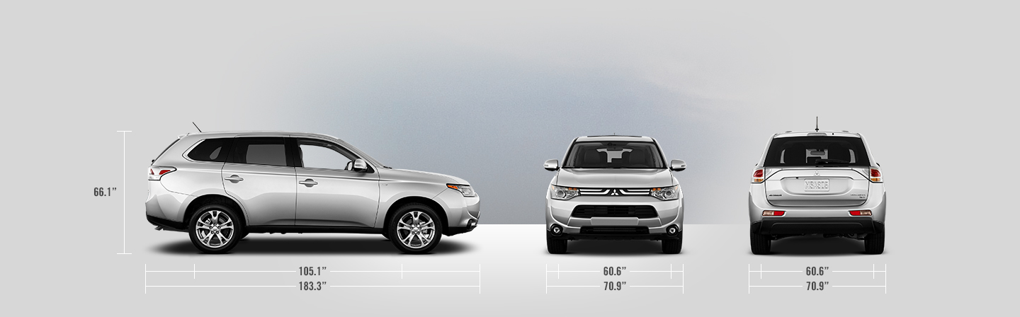 2014 Mitsubishi Outlander measurements