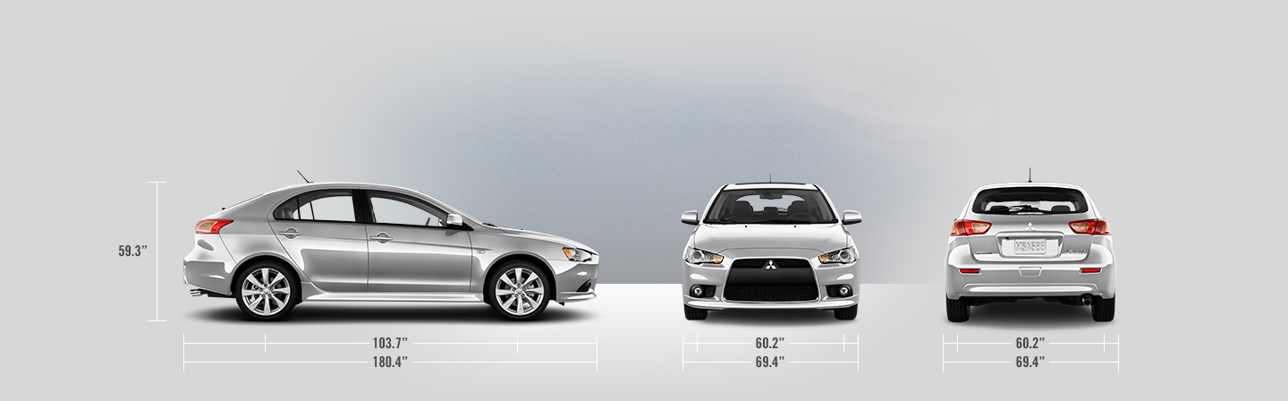 2014 Mitsubishi Lancer Sportback measurements