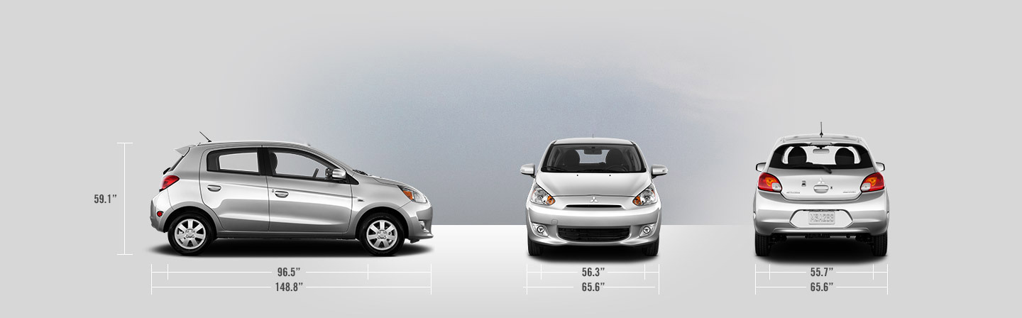 2015 Mitsubishi Mirage measurements