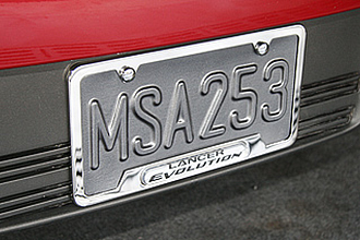 Lancer Evolution License Plate Frame