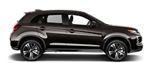 A side profile view of a brown 2021 Mitsubishi Outlander Sport against a white background.