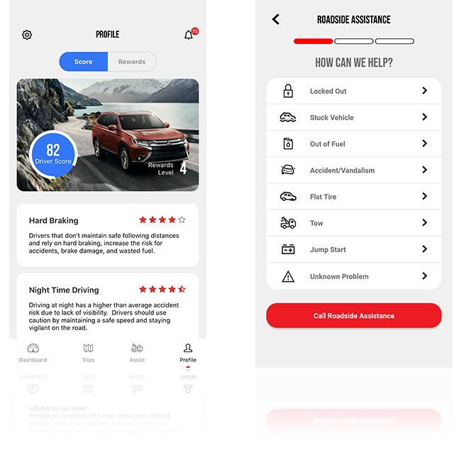 Overview of the Mitsubishi Road Assist Application for iPhone and Android