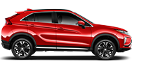 Side view of a 2019 Mitsubishi Eclipse Cross Crossover in Red