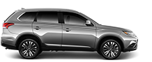 Side view of a 2019 Mitsubishi Outlander SUV in Grey