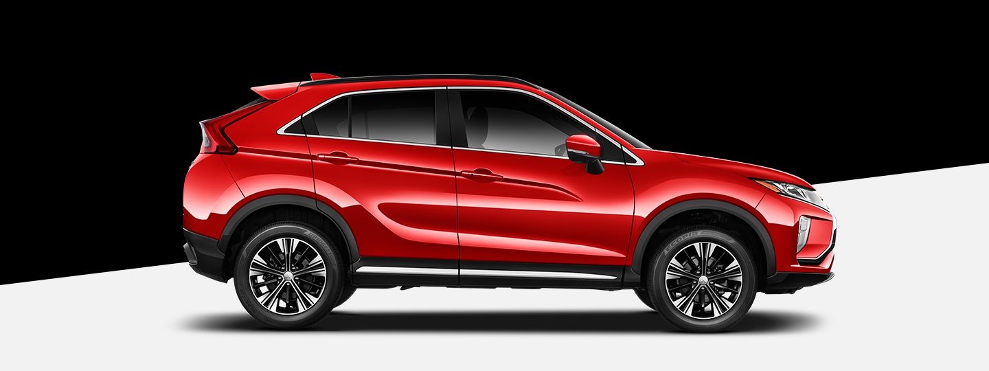 Side view of the 2019 Mitsubishi Eclipse Cross in red