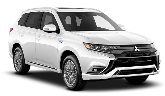 Mitsubishi Outlander PHEV hybrid vehicle on the electric car page