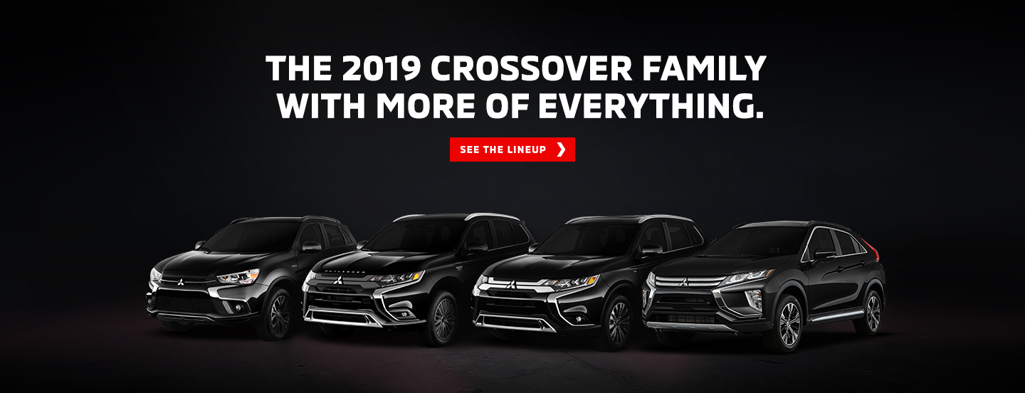 Front view of the Mitsubishi SUVs and Crossover Vehicles in 2019 Limited Edition