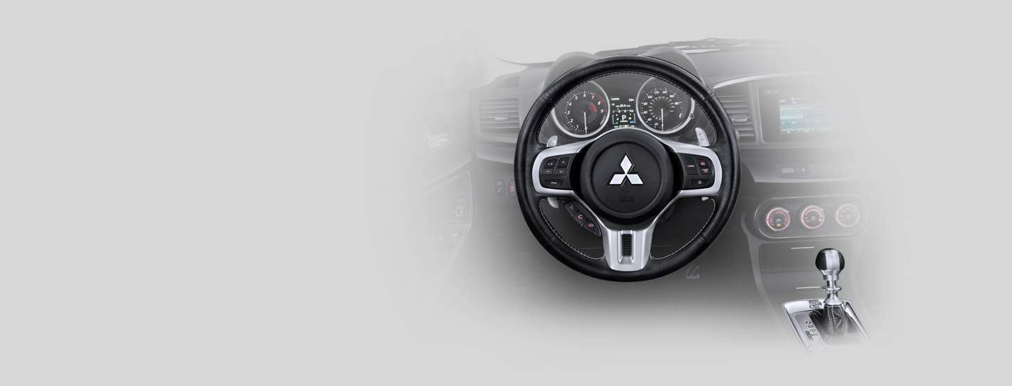2015 Lancer Evolution leather-wrapped sport steering wheel
