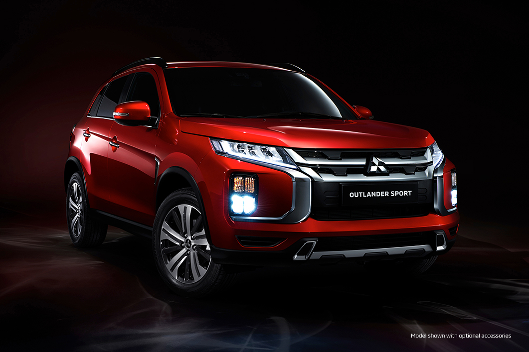 The 2020 Mitsubishi Outlander Sport in red