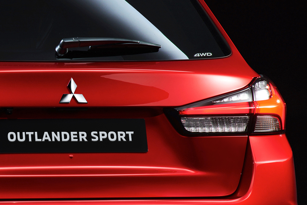 Trunk of a red 2020 Mitsubishi Outlander Sport