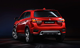 Back of a new red 2020 Mitsubishi Outlander Sport