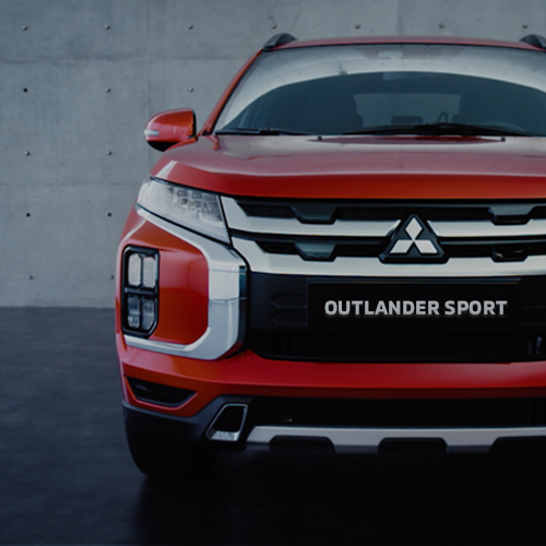 Front of a red 2020 Mitsubishi Outlander Sport