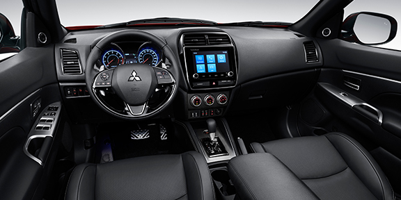 Front driver and passenger seat view of the 2020 Mitsubishi Outlander Sport