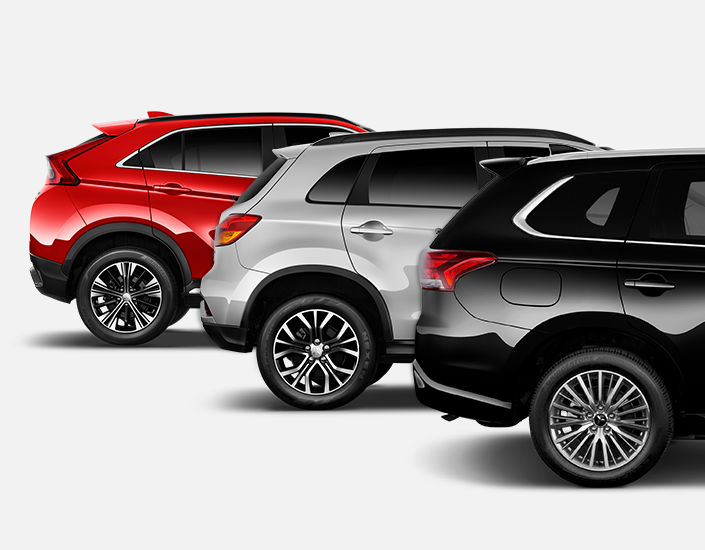 Rear view comparison between Crossover and SUVs