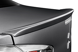 Lancer Evolution trunk detail.
