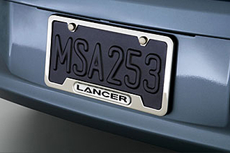 Lancer License Plate Frame