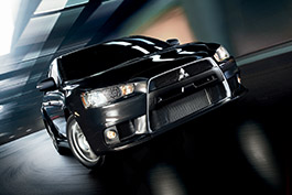Lancer Evolution MR front view.
