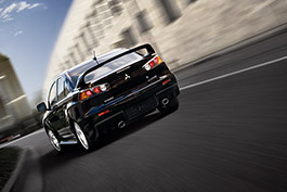 Lancer Evolution GSR on the move.
