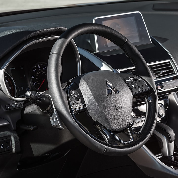 Drive with sophistication with the available heated and leather wrapped steering wheel.