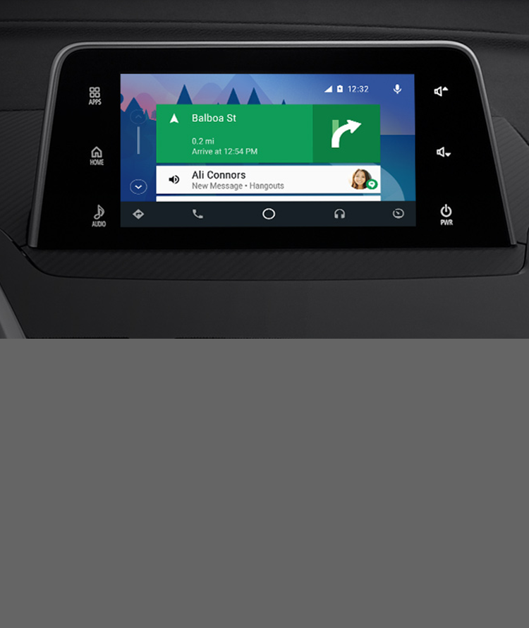 Cruise with confidence and Android Auto<sup>TM</sup><ANDROID002> giving you navigation, tunes, and more.