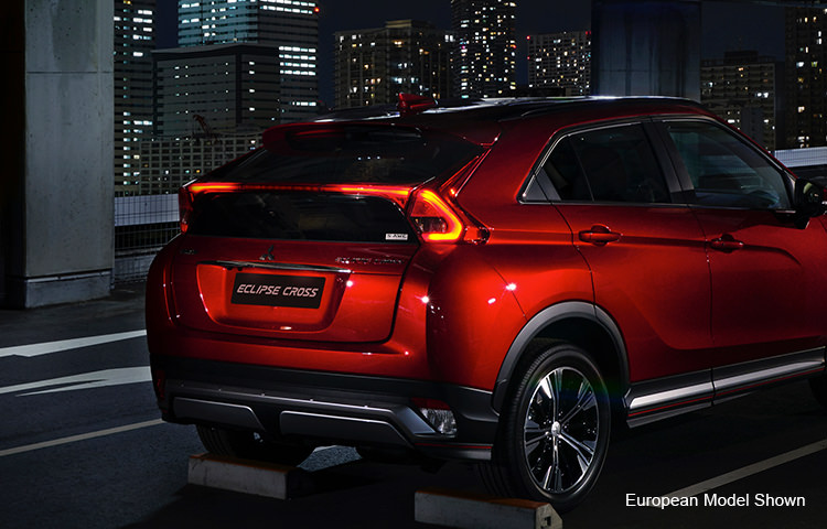 2018 Mitsubishi Eclipse Cross rear exterior athletic sporty