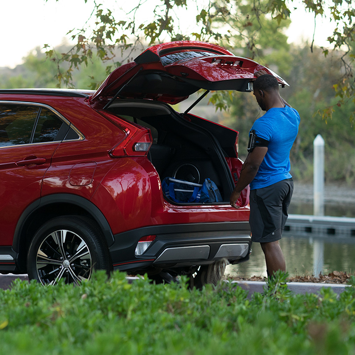 Get a crossover with enough cargo space for your life, with the new 2019 Mitsubishi Eclipse Cross.