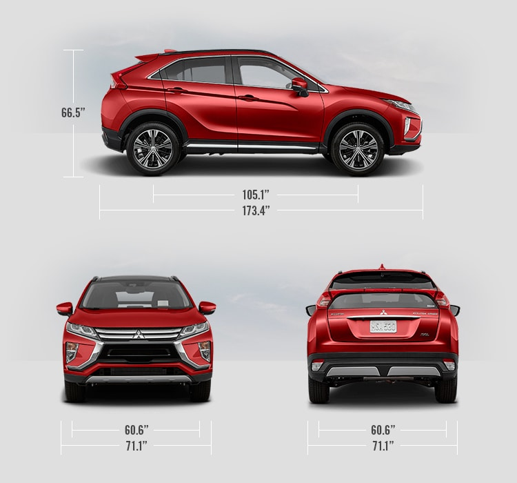 2019 Mitsubishi Eclipse Cross measurements