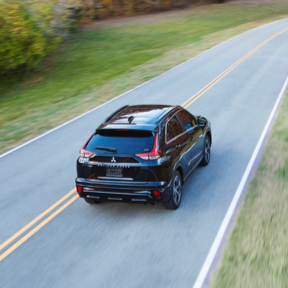 Top and high view of a black 2021/2022 Mitsubishi Eclipse Cross