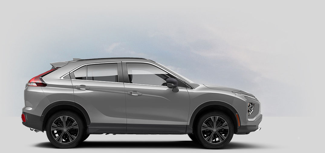 A 2022 Mitsubishi Eclipse Cross LE 1.5T 2WD with sterling silver color.