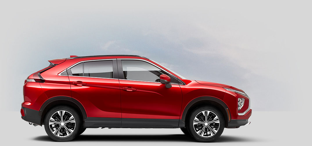 A 2022 Mitsubishi Eclipse Cross SE SPECIAL EDITION 2WD with red diamond color.