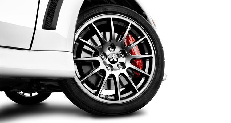 2015 lancer evo final edition 18 inch enkei dark alloy wheels