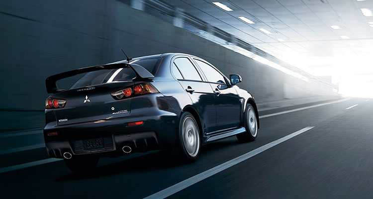 The Lancer EVO GSR is equipped to impress with the aerodynamically-enhancing rear wing spoiler.