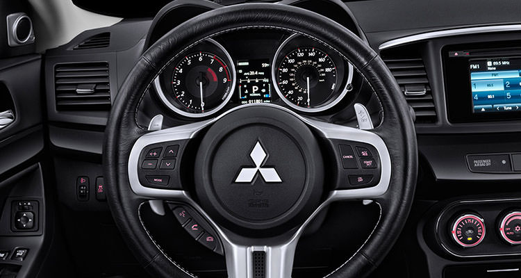 leather wrapped steering wheel 2015 mitsubishi lancer evo