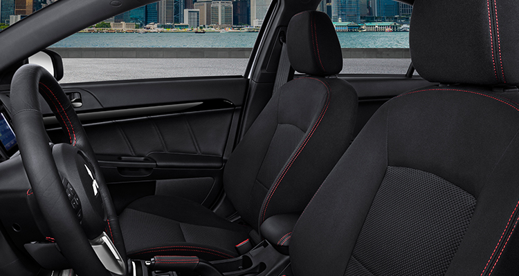 red stitched front seats 2015 lancer evo final edition