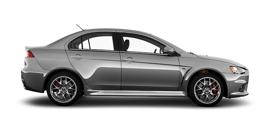 Mercury gray 2015 Mitsubishi Lancer Evolution Exterior 360 View