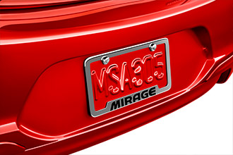 License plate frame accessory for 2017 Mitsubishi Mirage G4