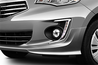 LED daytime running lights for 2017 Mirage G4 front bumper