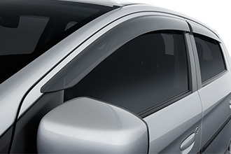 side window deflectors accessories for 2017 Mitsubishi Mirage hatchback