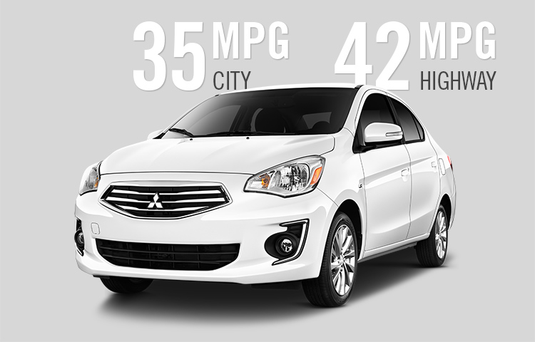 2017 Mitsubishi Mirage G4 MPG and fuel economy compared to Versa Fiesta RIo Sonic and Accent
