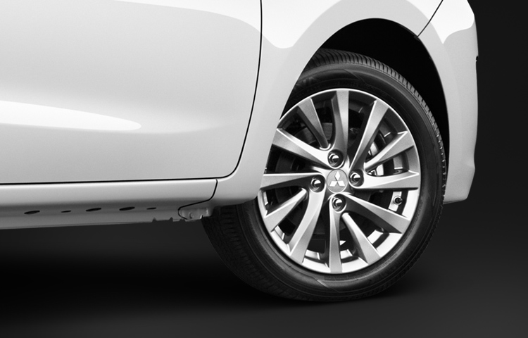 Mitsubishi Mirage G4 wheel with traction control and brake assist