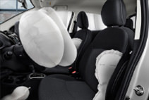 2017 Mitsubishi Mirage G4 Safety Features including 7 airbag system