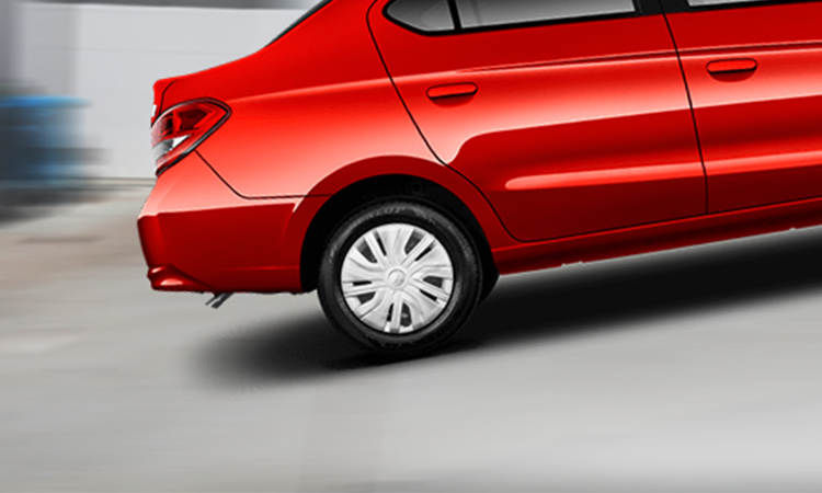 Red 2017 Mitsubishi Mirage G4 using Hill Incline Assist