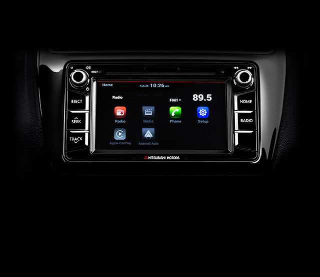 2018 Mitsubishi Mirage G4 technology smart touchscreen