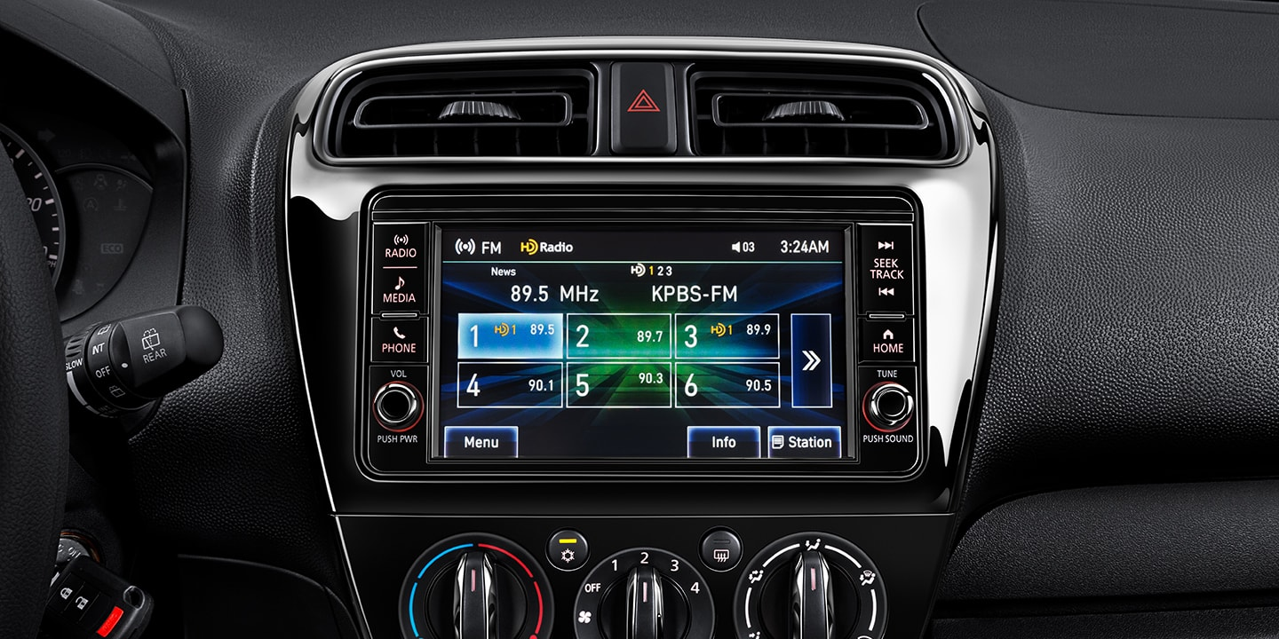 2018 Mitsubishi Mirage G4 interior with touchscreen