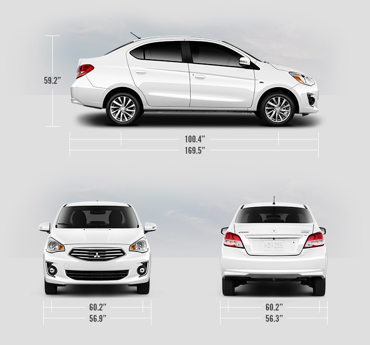 2018 Mitsubishi Mirage G4 measurements