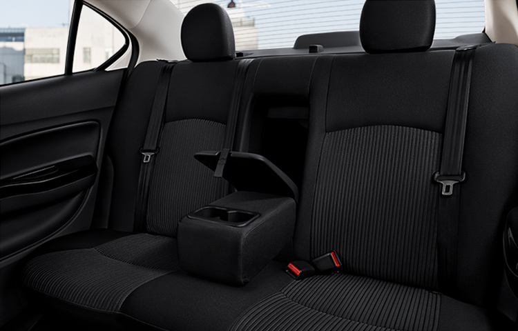 Cruise in comfort with the best in class rear and total legroom of the 2019 Mitsubishi Mirage G4.