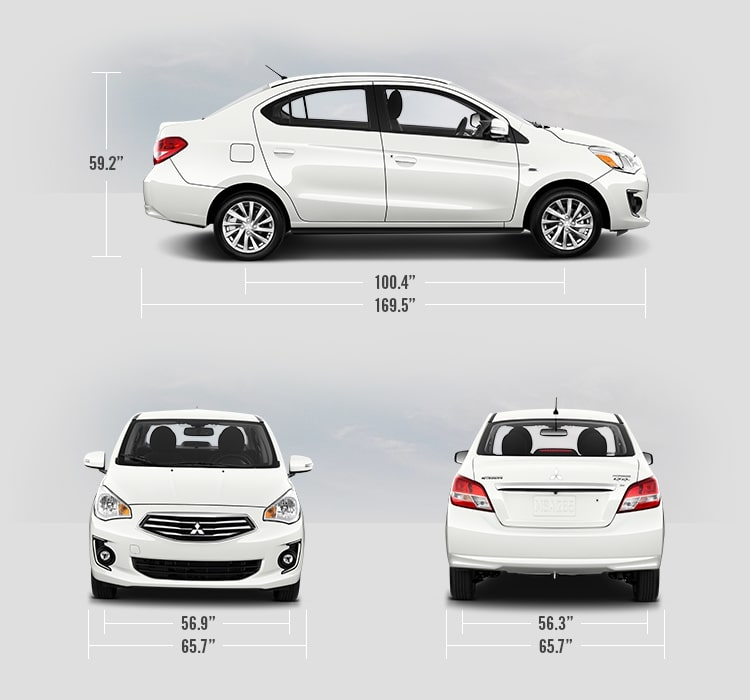 2019 Mitsubishi Mirage G4 measurements